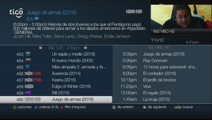 guia de programas one tv